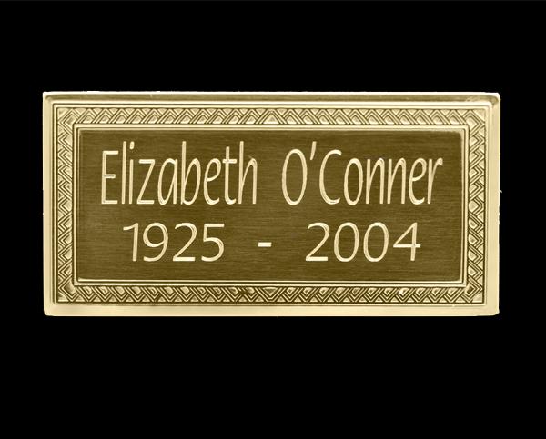 Solid Brass Nameplate Flora Font | Urns For Cremation