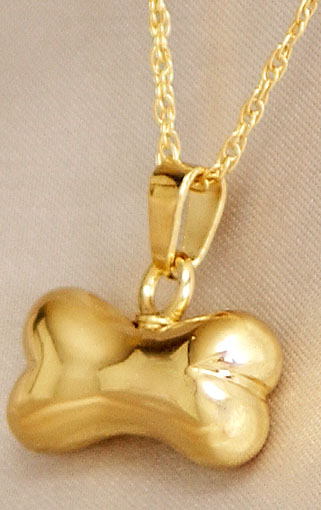 Gold dog bone pet keepsake urn pendant urns cremation aloadofball Choice Image