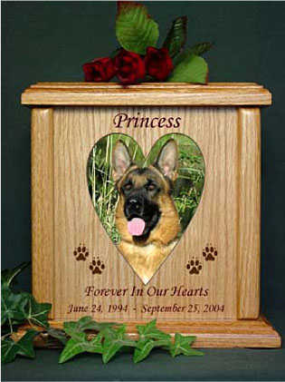 XL Heart Photo Cat/Dog Pet Urn | Urns For Cremation