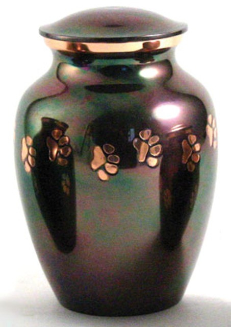 Brass Paw Print Cat Urn Urns For Cremation